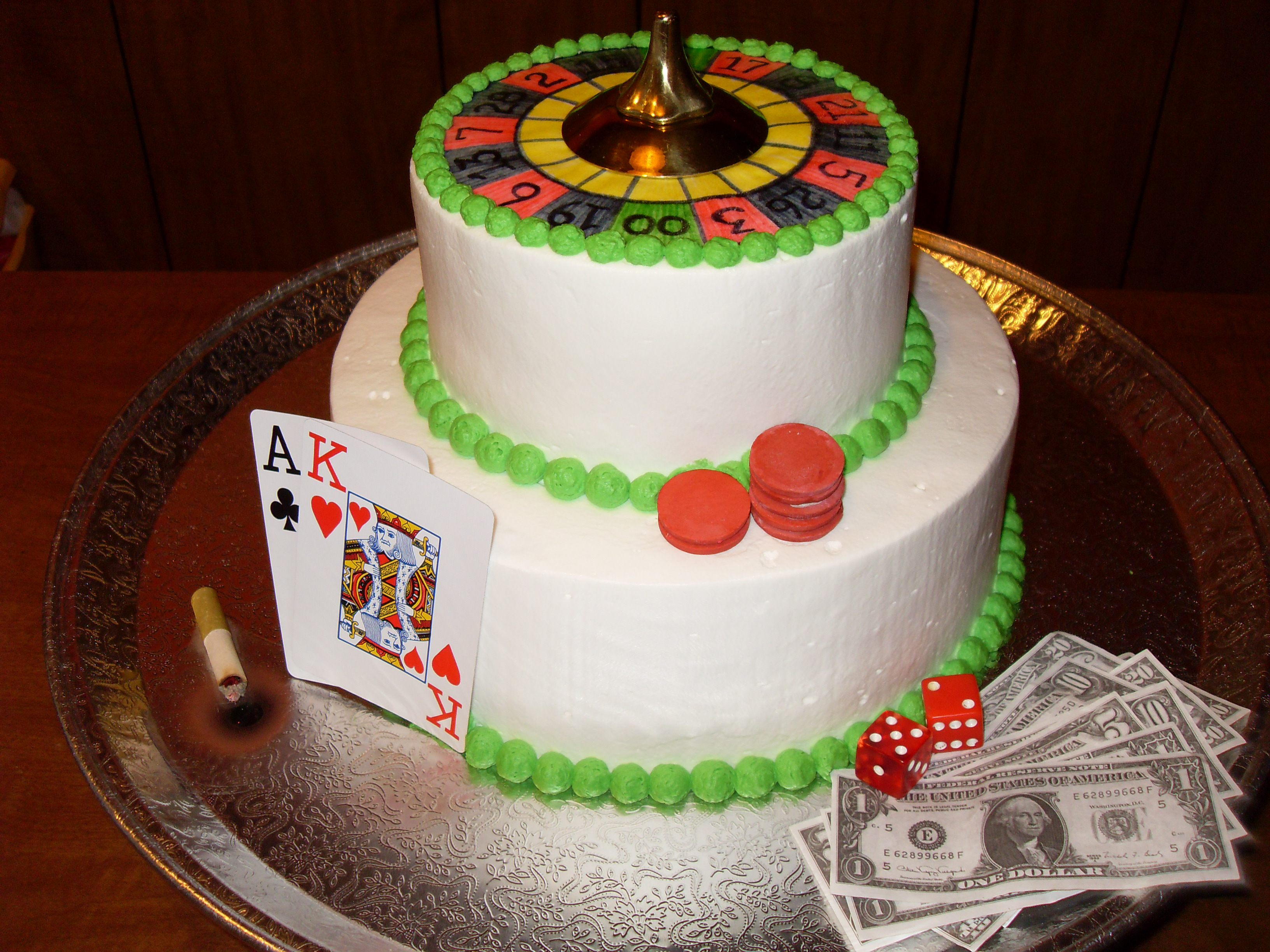 """Marriage- it's a Gamble!"" groom's cake"